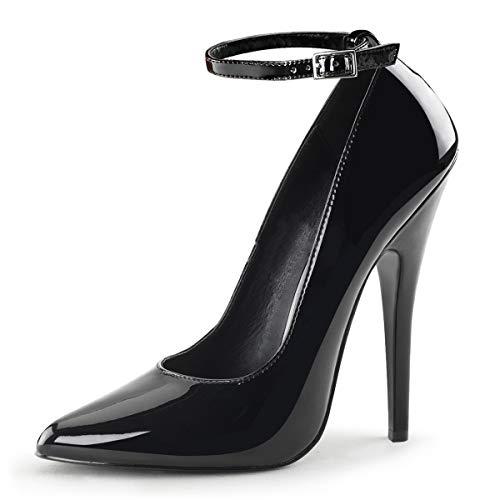 Higher-Heels PleaserUSA Pumps Domina-431 Lack schwarz Gr. 45