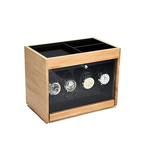 KHUY Caja Giratoria para Relojes Automatico, Cajas Relojes Automaticos Watch Winder Rotating Mostrar Organizador Reloj Lujo Caja Regalo, Motor Extremadamente Silencioso (Color : Style B)