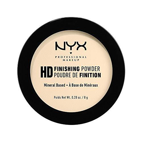 NYX Professional Makeup High Definition Finishing Powder, Gepresstes Puder, Perfektionierte Haut, Mattes Finish, Ölabsorbierend, Vegane Formel, Farbton: Banana