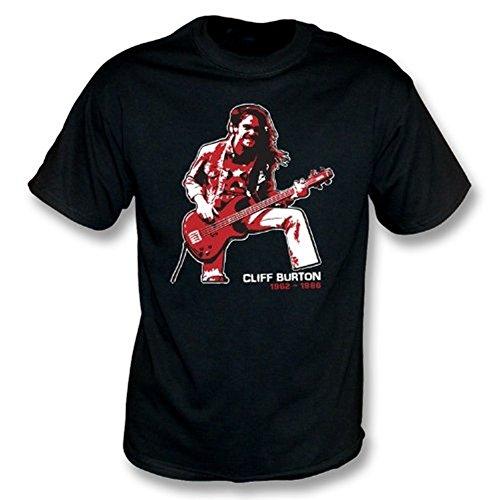 TshirtGrill T-Shirt Cliff Burton (Metallica) Tribute Noir Taille XL