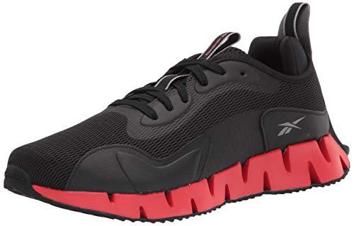 Reebok mens Zig Dynamica Running Shoe, Black/Instinctive Red/Pewter, 11.5 US