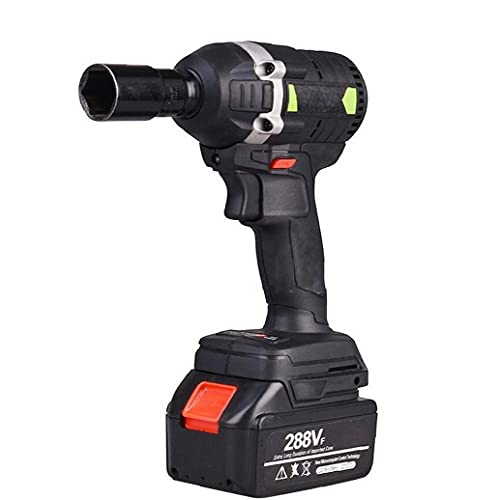 Elettrico chiave Cordless Drill cacciavite Brushless Impact Wrench Large Power Tool-Black EU Plug