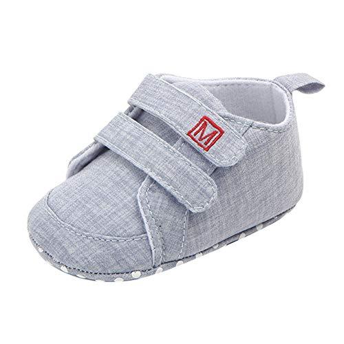 Weixinbuy Newborn Baby Boy's Soft Sole Anti-Slip Casual Sneaker Shoes Prewalker Light Grey