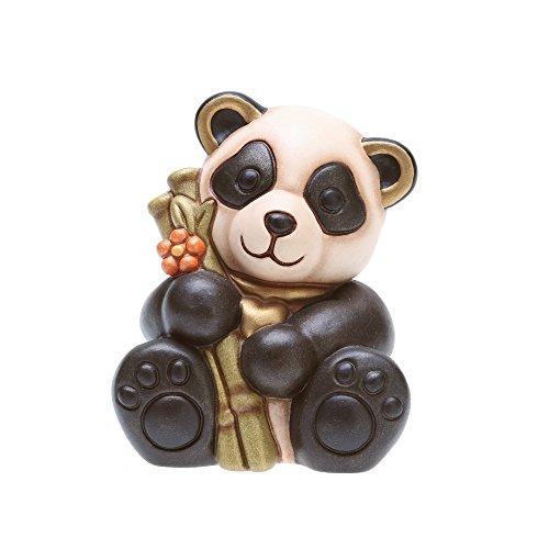 THUN - Panda con bambù Formato Piccolo - Ceramica - 8,5 cm h