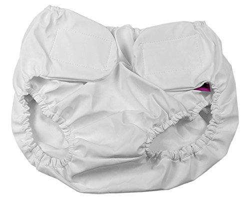 ubio braga para la incontinencia impermeable Velcro Blanco Talla XL
