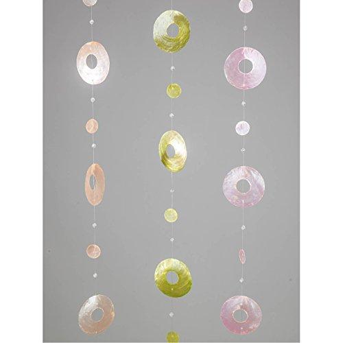 formano 3er Set Fensterdeko Hänger Girlande Muscheln mit Durchbruch L. 180cm
