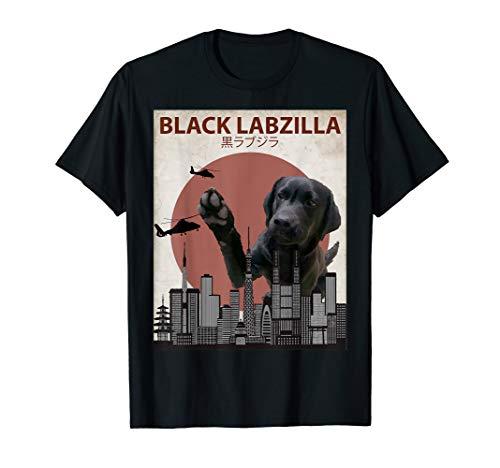 Schwarz labzilla | Funny Lab Labrador Retriever Hunde-T-Shirt
