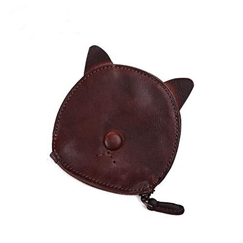NOLOGO Wallet Cartoon niedlichen Kätzchen Retro Geldbörse Münzenaufbewahrungstasche Vertical Wallet (Color : Coffee Color)