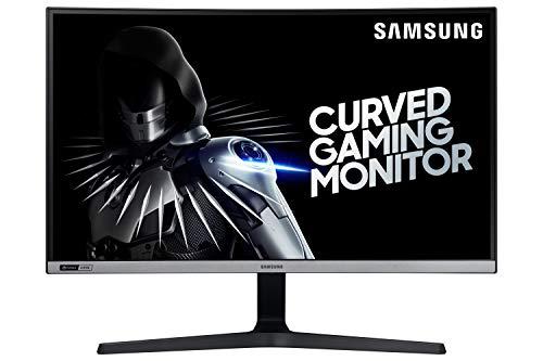 """Samsung C27RG50 - Monitor Curvo Gaming de 27"""" (Full HD, 4 ms, 240 Hz, G-Sync, LED, VA, 16:9, 3000:1, 1800R, 300 CD/m², 178°, HDMI, Base en V) Plata Oscuro"""