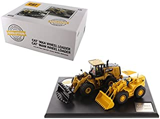 CAT Caterpillar 966A Wheel Loader (Circa 1960-1963) and CAT Caterpillar 966M Wheel Loader (Current) with Operators Evolution Series 1/50 Diecast Models by Diecast Masters 85558