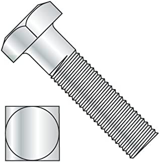 Machine Bolts Plain Square Head Steel 600 pcs 5//16-18 X 2-1//2