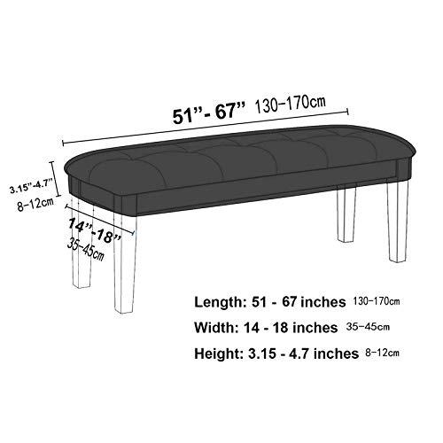 COGOWAIダイニングルームベンチカバー伸縮素材防塵一体式布張り長椅子プロテクターキッチン・ベッドルーム・リビングルーム・玄関用(L,コーヒー)