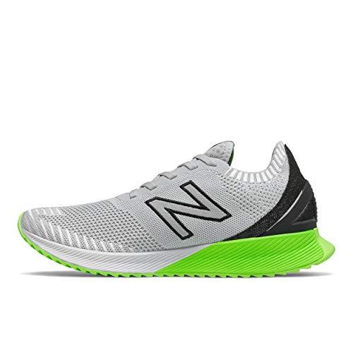Tênis de corrida masculino New Balance FuelCell Echo V1, Light Aluminum/Black, 8.5