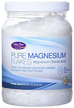 Life-flo Pure Magnesium Flakes for Bath | Concentrated Magnesium Chloride Crystals Relaxing & Rejuvenating Soak  44 oz