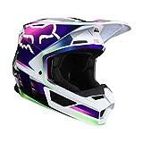 Fox Racing Gama メンズ V1 オフロードバイクヘルメット - マルチ/ラージ