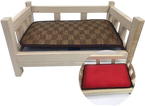 NTUOO Almohadas de Cama Cama for Perros elevada de Madera con colchón, for los Animales domésticos cómodo for Dormir, Robusto Durable for Mascotas Gatos Couch Almohadilla de Mascotas