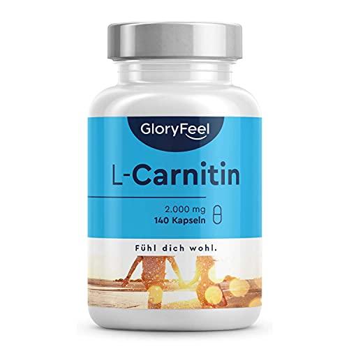 L-Carnitin 3000 - Premium Carnipure® von Lonza - 140 vegane Kapseln - 3.000mg L-Carnitin pro Tag - Laborgeprüft, hochdosiert, ohne Zusätze in Deutschland hergestellt