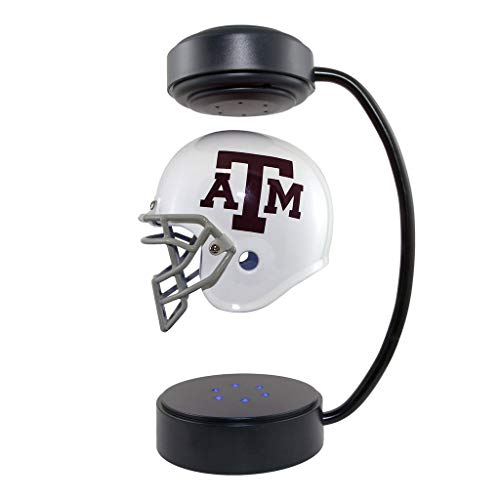 Texas A&M Aggies NCAA Hover Helmet - Collectible Levitating Football Helmet with Electromagnetic Stand