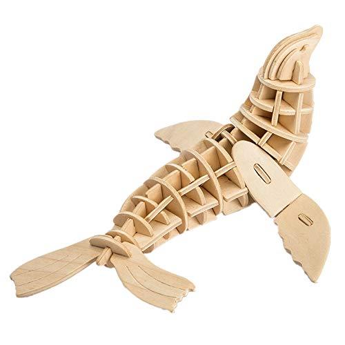 Georgie Porgy 3D Wooden Puzzle Sea Lion Model Woodcraft Construction kit Kids Toys age 5+ (JP276 Sea Lion 56pcs)
