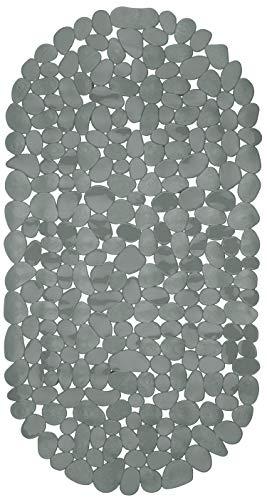 Circul Badewannenmatte 68 x 35 cm grau Steinoptik modern