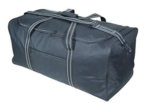 Extra grote XL Big Holdall Reistas - 140 Liter Zeer grote zwarte bagageruimtes Cargo Tassen voor Opslag, Reizen of Wasserij
