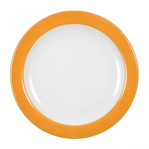 Seltmann weiden vIP. drapeau de petit déjeuner avec assiette porcelaine orange ø 20 cm, 1226677