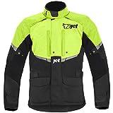 JET - Chaqueta de moto para hombre, impermeable, con protección CE