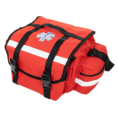 LINE2design EMS EMT Firefighter Paramedic First Responder First Aid Rescue Trauma Bag Red