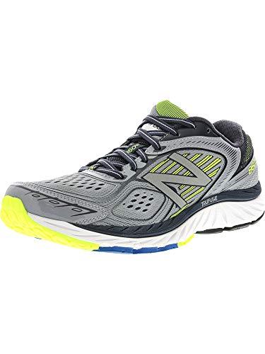 New Balance Men's 860v7 Running Shoe,Grey/Yellow,US 9 B