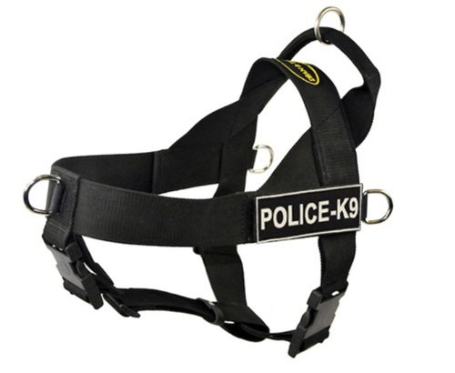 Dean & Tyler D&T UNIVERSAL CPOLICEK9 BK-S DT Universal No Pull Dog Harness, Certified Police K9, Small, Fits Girth, 61cm to 69cm, Black