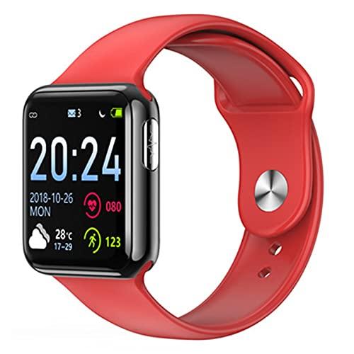 LKM V5 Smart Watch Men Fitness Tracker ECG Presión Arterial Monitor de Ritmo cardíaco Reloj Mujer Smartwatch para iOS Android,F