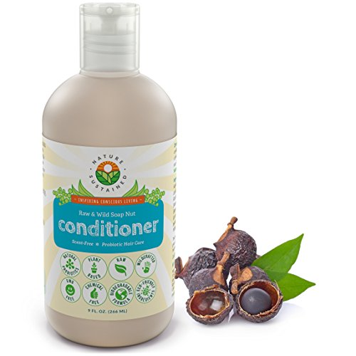 Probiotic Sensitive Skin Cleansing Conditioner [Unscented] – Raw Probiotic Soapberry Formula (pH Balanced) for Hydrated & Soft Hair - Wild Plants Selected for Itchy Scalp & Dry, Damaged Hair