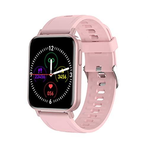 Reloj inteligente con pantalla táctil de 1,65 pulgadas, para hombre y mujer, con chip USA IS2806 + AB376, podómetro, pulsómetro, controlador musical para mensajes (rojo)