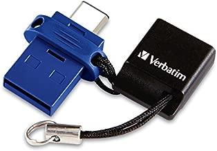 Verbatim 64GB Store n Go Dual USB Flash Drive for USB C Devices Blue