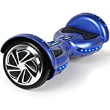 SISIGAD Hoverboard with Bluetooth, 6.5' Two Wheels Self Balancing Scooter with Built-in Speaker, LED Colorful Lights, Ideal Hoverboard for Kids Ages 6-12
