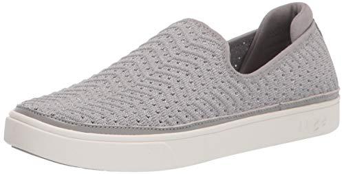 UGG Mädchen Caplan Slip-On Sneaker, Seal Metallic Knit, 21 EU Wide