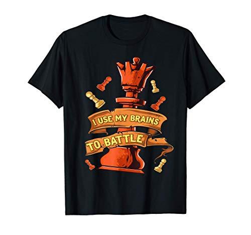 La reina de los cerebros de piezas de ajedrez para la batall Camiseta