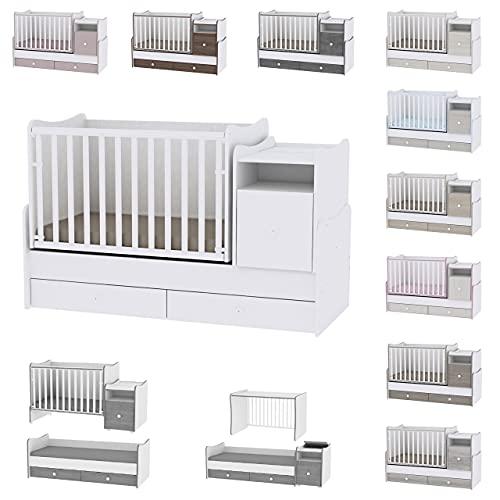 Lit bébé évolutif/ combiné Trend Plus blanc Lorelli (Le lit se transforme en : lit d'adolescent,...