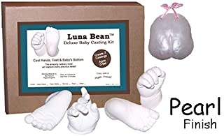 Luna Bean Deluxe 3D Prints Baby Casting Kit - Mold and Cast Infant Foot and Hand (Pearl)