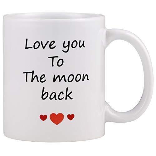 Love You To The Moon Back Taza de café 11OZ Taza de café
