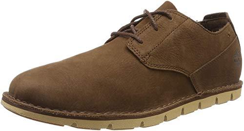 Timberland Tidelands, Zapatos de Cordones Oxford Hombre, Marrón Dark Brown Nubuck, 43 EU