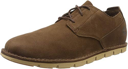 Timberland Tidelands, Zapatos de Cordones Oxford para Hombre, Marrón (Dark Brown Nubuck), 41 EU