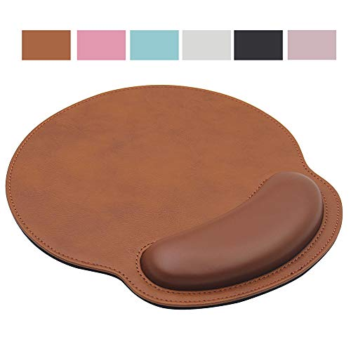 Ergonomic Mouse Pad with Wrist Support,PU Leather Mousepad for Laptop...