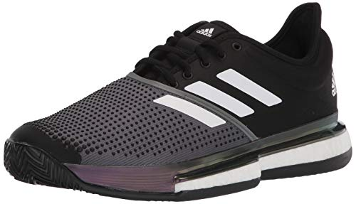adidas Solecourt Clay Primeblue Tenis Zapatillas para hombre, negro, 10