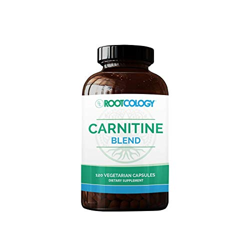 Rootcology Carnitine Blend - L-Carnitine & Acetyl-L-Carnitine Formula by Izabella Wentz Author of The Hashimoto's Protocol, Ideal for Vegetarians (120 Capsules)