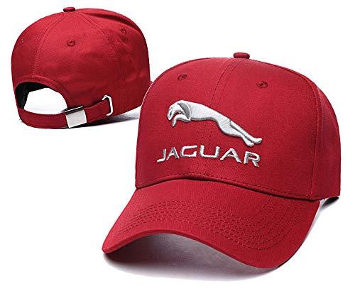 Yoursport Fit Jaguar Hat 3D Embroidered Baseball Cap Men Women Adjustable Hat Travel Cap (red)