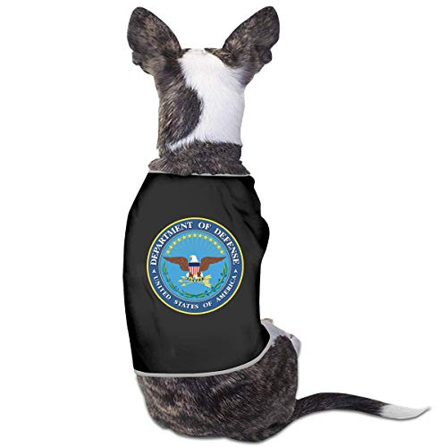 FETEAM Camiseta de Ropa para Mascotas Departamento de Defensa de EE. UU. para Perros, Gatos, Camiseta sin Mangas, Disfraces para Cachorros, Abrigos para Mascotas