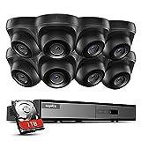 SANNCE 8CH 1080p Überwachungskamera Set 5-in-1 DVR mit 1 TB Festplatte und 8X Wasserdicht Überwachungskameras mit 100 Fuß Nachtsicht, Bewegungsalarm und Fernzugriff