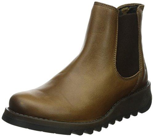 Fly London Damen Salv Chelsea Boots, Braun (Camel 002), 42 EU