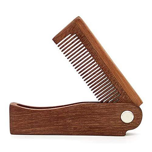 Peigne À Cheveux Pliable Portable Peigne En Bois Massage Style Brosse De Cheveux Brosse À Cheveux Pour Cheveux Longs Épais, Bouclés, Ondulés, Secs Et Endommagés